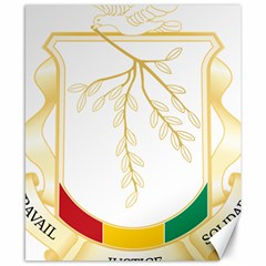 Coat of Arms of Republic of Guinea  Canvas 8  x 10