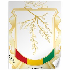 Coat of Arms of Republic of Guinea  Canvas 18  x 24