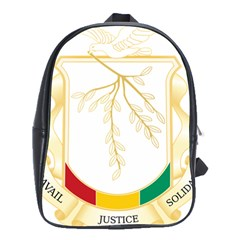 Coat of Arms of Republic of Guinea  School Bags(Large)