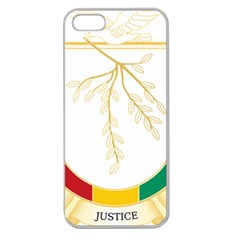 Coat of Arms of Republic of Guinea  Apple Seamless iPhone 5 Case (Clear)