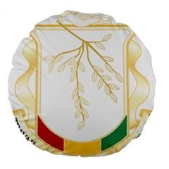 Coat of Arms of Republic of Guinea  Large 18  Premium Round Cushions