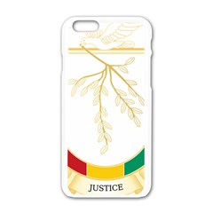 Coat of Arms of Republic of Guinea  Apple iPhone 6/6S White Enamel Case