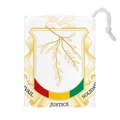 Coat Of Arms Of Republic Of Guinea  Drawstring Pouches (extra Large)