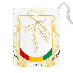 Coat of Arms of Republic of Guinea  Drawstring Pouches (XXL)