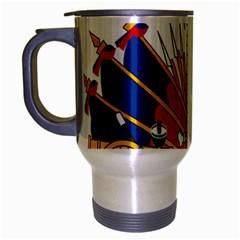 Coat of Arms of Haiti Travel Mug (Silver Gray)