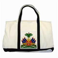Coat of Arms of Haiti Two Tone Tote Bag