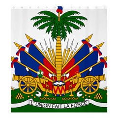 Coat of Arms of Haiti Shower Curtain 66  x 72  (Large)