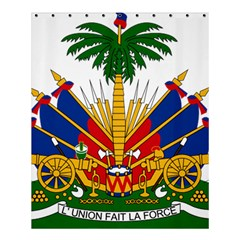 Coat of Arms of Haiti Shower Curtain 60  x 72  (Medium)
