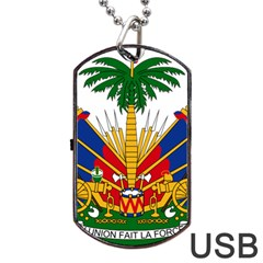 Coat of Arms of Haiti Dog Tag USB Flash (One Side)