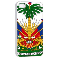 Coat of Arms of Haiti Apple iPhone 4/4s Seamless Case (White)
