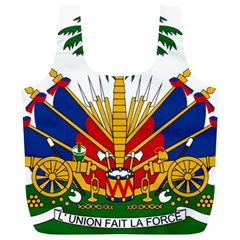 Coat of Arms of Haiti Full Print Recycle Bags (L)