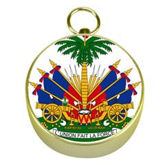 Coat of Arms of Haiti Gold Compasses
