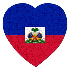 Flag of Haiti  Jigsaw Puzzle (Heart)