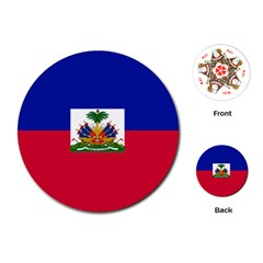 Flag of Haiti  Playing Cards (Round)