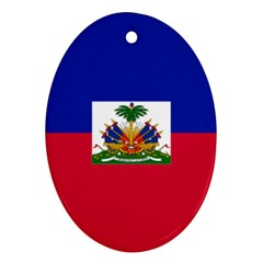 Flag of Haiti  Oval Ornament (Two Sides)
