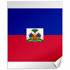 Flag of Haiti  Canvas 11  x 14