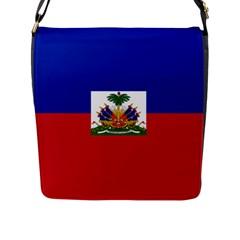 Flag of Haiti  Flap Messenger Bag (L)