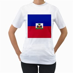 Flag of Haiti  Women s T-Shirt (White)