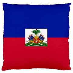 Flag of Haiti  Large Flano Cushion Case (Two Sides)