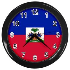 Flag of Haiti Wall Clocks (Black)