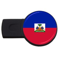 Flag of Haiti USB Flash Drive Round (1 GB)