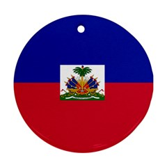 Flag of Haiti Round Ornament (Two Sides)