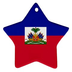 Flag of Haiti Star Ornament (Two Sides)