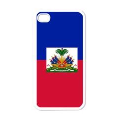 Flag of Haiti Apple iPhone 4 Case (White)