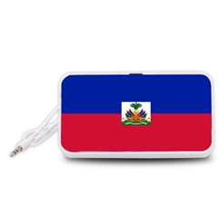 Flag of Haiti Portable Speaker (White)