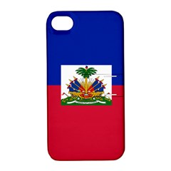 Flag of Haiti Apple iPhone 4/4S Hardshell Case with Stand