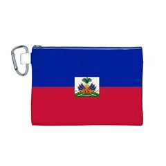 Flag of Haiti Canvas Cosmetic Bag (M)