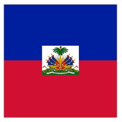 Flag of Haiti Large Satin Scarf (Square)