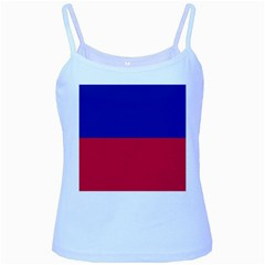Civil Flag of Haiti (Without Coat of Arms) Baby Blue Spaghetti Tank