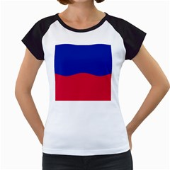 Civil Flag of Haiti (Without Coat of Arms) Women s Cap Sleeve T