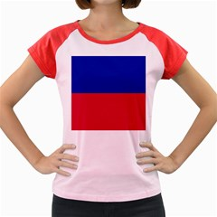 Civil Flag of Haiti (Without Coat of Arms) Women s Cap Sleeve T-Shirt