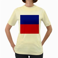 Civil Flag of Haiti (Without Coat of Arms) Women s Yellow T-Shirt