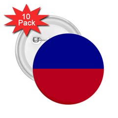 Civil Flag of Haiti (Without Coat of Arms) 2.25  Buttons (10 pack)