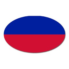Civil Flag of Haiti (Without Coat of Arms) Oval Magnet