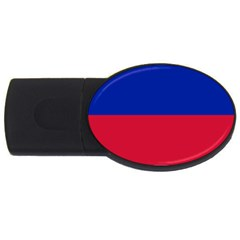 Civil Flag of Haiti (Without Coat of Arms) USB Flash Drive Oval (2 GB)