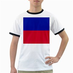 Civil Flag of Haiti (Without Coat of Arms) Ringer T-Shirts