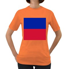 Civil Flag of Haiti (Without Coat of Arms) Women s Dark T-Shirt