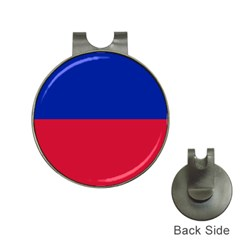 Civil Flag of Haiti (Without Coat of Arms) Hat Clips with Golf Markers