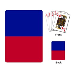 Civil Flag of Haiti (Without Coat of Arms) Playing Card