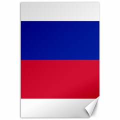 Civil Flag of Haiti (Without Coat of Arms) Canvas 12  x 18