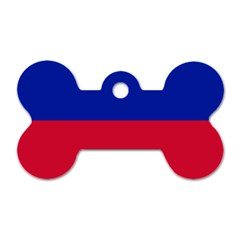 Civil Flag Of Haiti (without Coat Of Arms) Dog Tag Bone (two Sides)