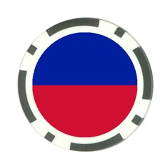 Civil Flag Of Haiti (without Coat Of Arms) Poker Chip Card Guard