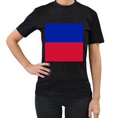 Civil Flag of Haiti (Without Coat of Arms) Women s T-Shirt (Black)