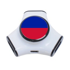 Civil Flag of Haiti (Without Coat of Arms) 3-Port USB Hub