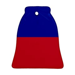 Civil Flag of Haiti (Without Coat of Arms) Bell Ornament (Two Sides)