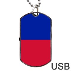Civil Flag of Haiti (Without Coat of Arms) Dog Tag USB Flash (Two Sides)